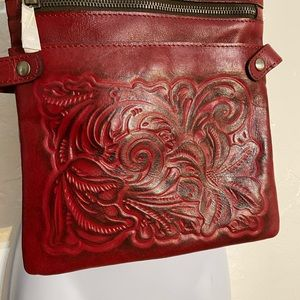 NWT Patricia Nash crossbody adjustable Berry Red